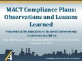 Mact compliance plans