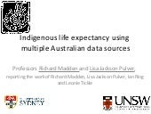 Indigenous Life Expectancy Using Mu...