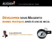Mageconf - Developper sous magento ...