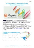 Points To Keep In Mind When Hiring Magento Programmers