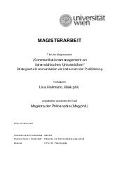 Magisterarbeit kommunikationsmanage...