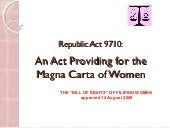 Magna Carta of Women by Lorna Mandin