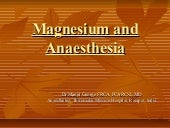 Magnesium and anaesthesia