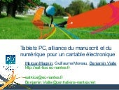 Tablets PC, alliance du manuscrit e...