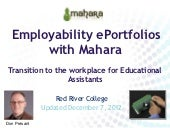 Employability ePortfolios with Mahara for Educational Assistants