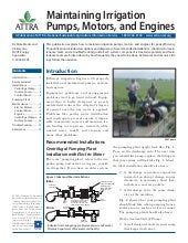 Maintaining Irrigation Pumps, Motor...