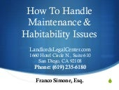 How To Handle Maintenance & Habitab...