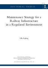 Maintenance strategy ltu dt-0754-se