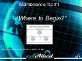 Maintenance Tip #1 by Ricky Smith
