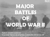 Major Battles Of WW2