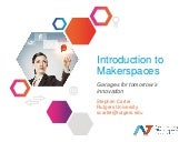 Introduction to Makerspaces: Garage...