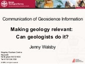 Making geology relevant: Can geolog...