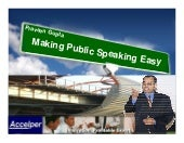 Making Public Speaking Easy