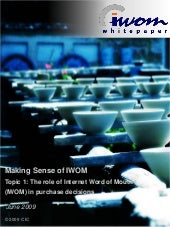 """Making Sense of IWOM"": IWOM White ..."