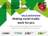 Making social media work for you  nm think - eastbourne