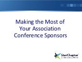 Making the Most of Conference Sponsors