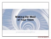 Making The Most of Your Team