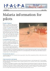 Malaria Information for Pilots