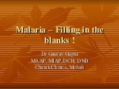 Malaria – Things We Need To Know !