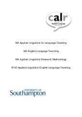 REFLESS Project - MA Linguistics Pr...