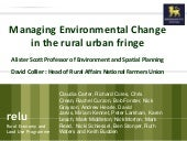 Rural urban Fringe Presentation to ...