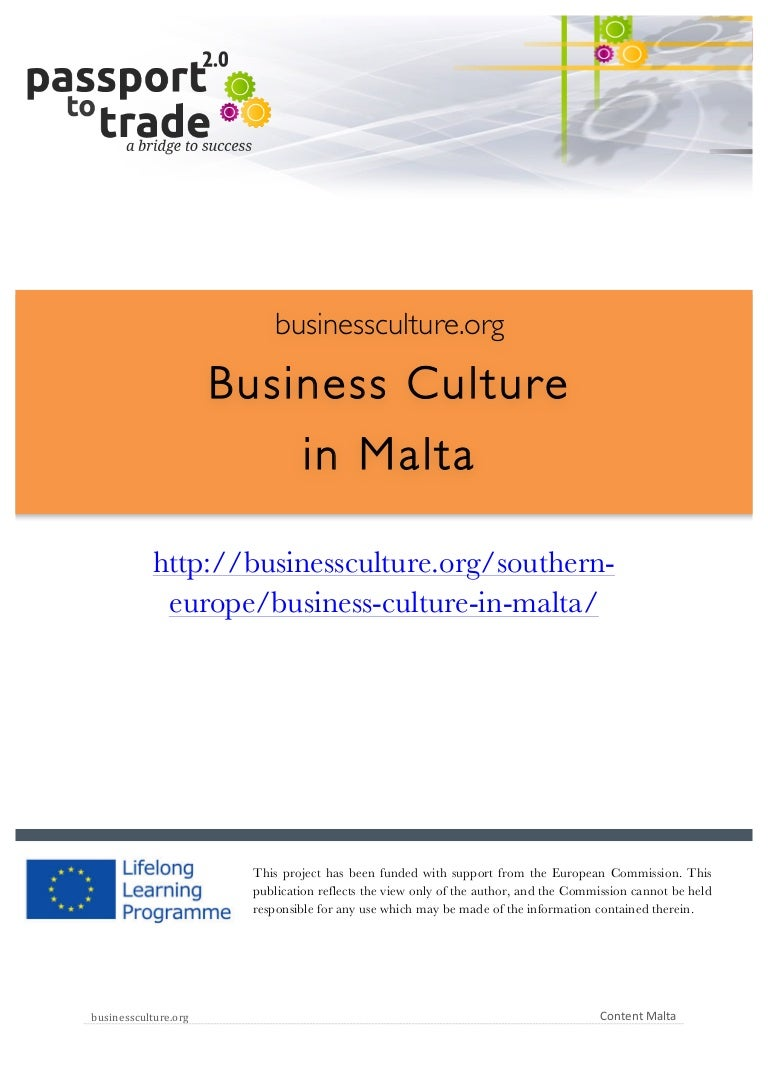 Maltese business culture guide - Learn about Malta