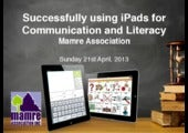 Successfully using iPads for Commun...