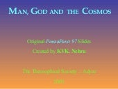 Man, God and the Cosmos