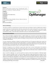 Manage engine OpManager Analyst Review