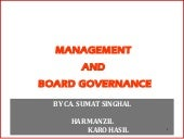 Management and board governance