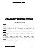 Management controll system book