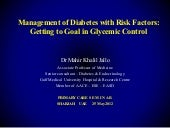 Management of diabetes with risk fa...