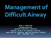 Management of Difficult Airway
