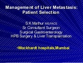 Management Of Liver   M E T A S T A...