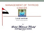 Management of throid cancer