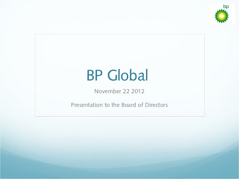BP Management Planning Presentation