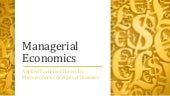 Managerial economics and tools for applied economic theory
