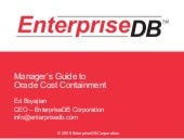Manager's Guide To Oracle Cost Cont...