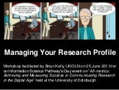 Managing your research profile