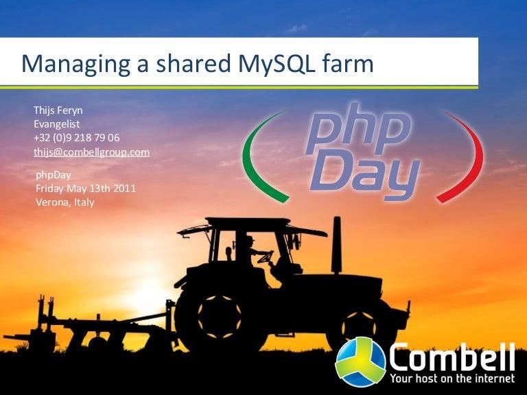 Managing a shared MySQL farm