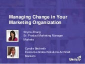 Managing Changes in Your Marketing Organization