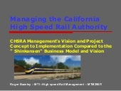 Managing The CHSRA Vision vs.The Ja...