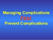 Managing complications v4