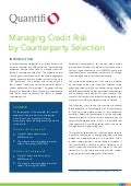 Managing Credit Risk by Counterparty Selection