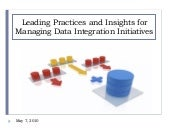 Managing Data Integration Initiatives