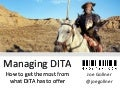 Managing DITA (Nov 2015)