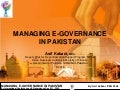 Managing E Governance In Pakistan