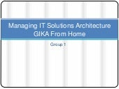 Managing It Solutions Architecture ...