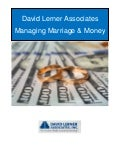 Managing Marriage and Money