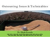 Outsourcing: Issues & Technicalities